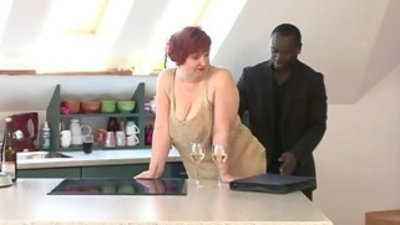 Bbw german milf gets fingered and fucked by a black dude