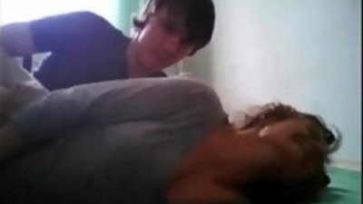 Seductive babysitter is fucking a married man, in his bedroom ru