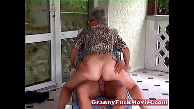 Classy grandmother fucked hard outdoor