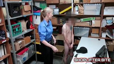 Boozed ladyboy police officer pounded by pawn dude