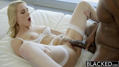 Blonde beauty fucked by her bfs bbc