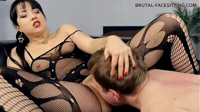 Huge Cock FemDom Facesitting