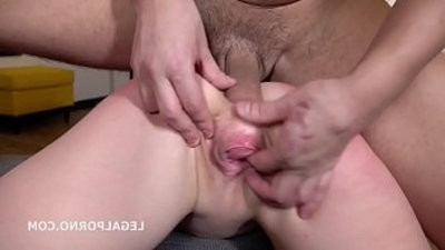 Alexa Flaxy gets deep hard Anal and double penetration with rough sex, manhandle, gapes, facial cumshot