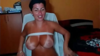 Sexy horny girl get punish with sunburn skin masturbating alone on webweb cam