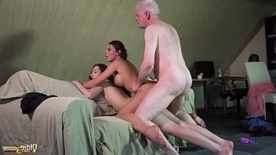Smutty Professor Fucks Naughty Studentranssexual old youthful threesome