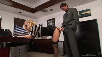 Belle & Renata Fucks Stockings Boss Musculine Female on Table