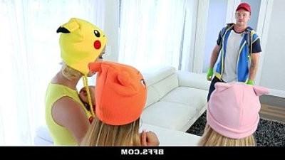BFFS Hot Pokemon Teens Fucked By PokemonGo Player