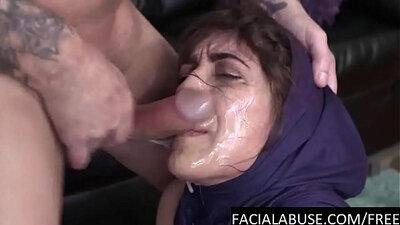 Anita Arabian lady fingers her tiedup pussy