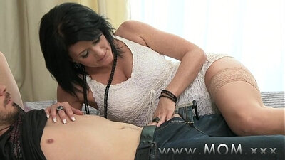 Hot sexy mature mom gets old and needs his cock