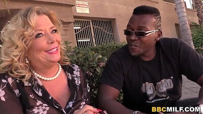 Blonde Mormon Cougar Tries BBC for the first time