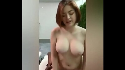 Milf with beautiful boobs is fucking on the mattress