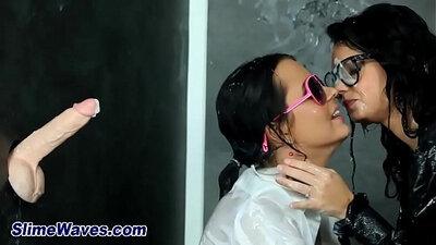 Lesbian cum shower! Seth Sands
