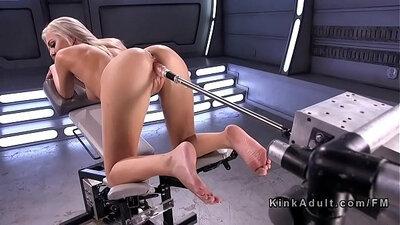 Tin Blonde Solo Fucks a Cock in a Machine Bathroom