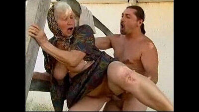 Missionary granny fucked in the ass