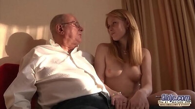 Barely legal young girl fucked by her step dads grandpas