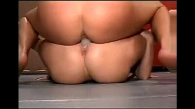 Asian Having Fun With A Double Sex Toy
