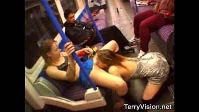British public flashing teen stretching tight snatch