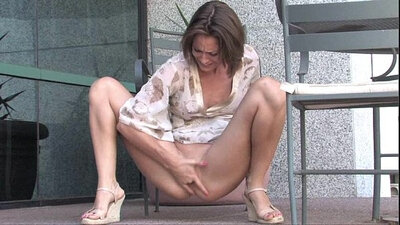Outdoor ejaculation all over scenery