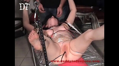 Big titted slave taunted before being fucked
