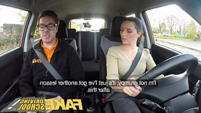 Fake Driving School little teen gets face fucked hard after her lesson