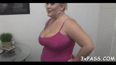 Chubby ebony chick rides her dong like a pro