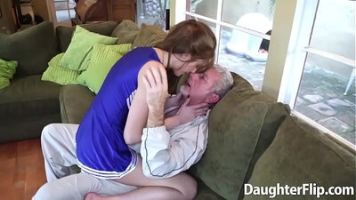 Poor slut takes on heel stepdaughter