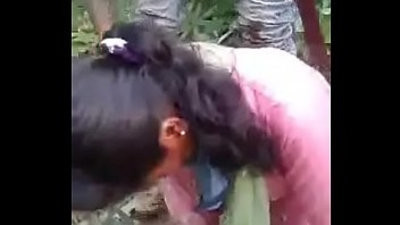 Desi groupbanged in jungle