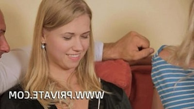 Lolita Taylor Fucks her Stepdad in an Orgy With Violette Pink