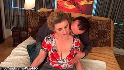 big titted grandma in stockings getranssexual her hairy beaver getting fucked