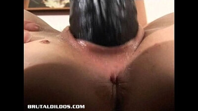 Blonde amateur toying pussy with sex toy
