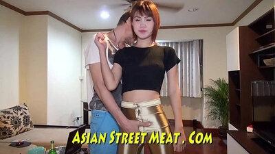 Asian beauty sperm spill fucking while masturb