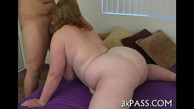 Old slut puts on a titfuck and fuck creampie