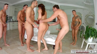 real orgy anal creampie