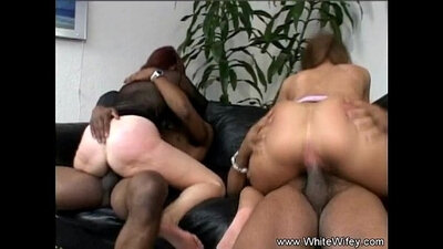 White Wifey Worships a Black Cock
