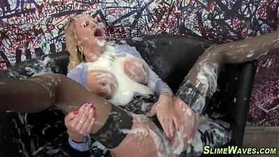 Fetish slut tugged