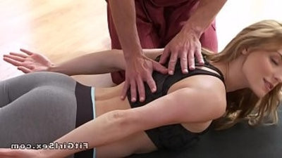 Hot yoga class end with hard core hook up