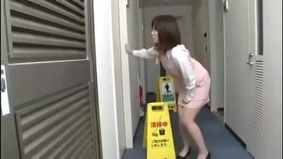 Busty Japanese Girl With Hot Tits Masturbates