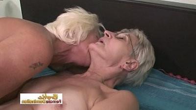 Nasty grannies having lesbihook upualan hook up in the old folks home