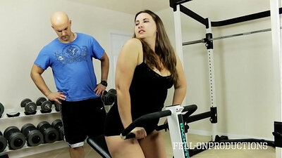 Stepmom Treasures Pussy During Sport Sessions