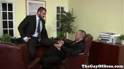 Office sex with gay sex Employee Got It In The Ass