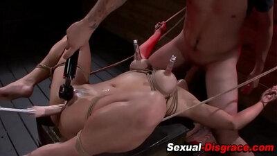 Deepthroat her Slave as he climbs boots