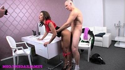 FemaleAgent Impressive cum shot all over beautiful agents big breasts