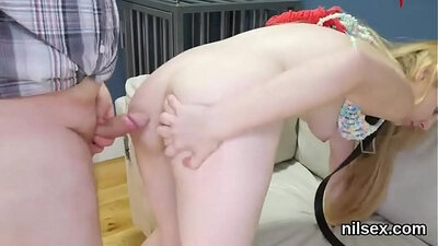 Booty slut walking home from video games