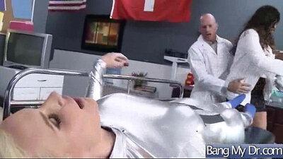 Big boobs earning doctor make cosmetic