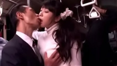Japanese gets fingered and fucked and facialized in a bus