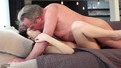 Old and Young Porn Sweet young womanfriend gets her face fucked by grandouble foraya