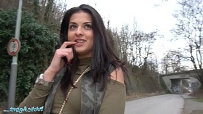 Public Outdoor orgasms for Serbian beauty