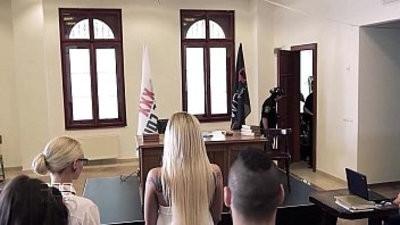 XXX Justice Judge orders Hot Group Sex and DP treatranssexualtudst