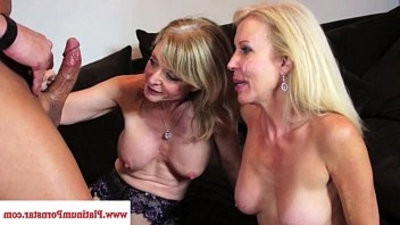 Nina Hartley and Erica Lauren taste jism