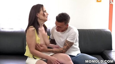 Big booty mom gets fucked by young dick